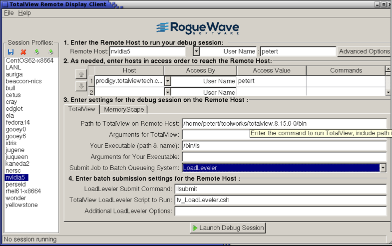 Product image: Invocation of a session through a Remote Desktop