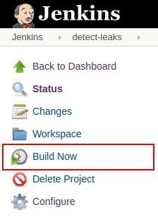 Jenkins project dashboard